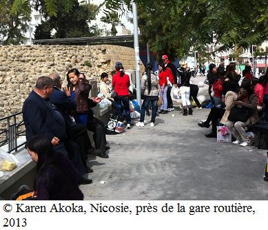 Karen Akoka, Nicosie, près de la gare routière, 2013